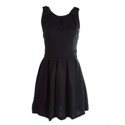 Ladies Dress Black Pleated Fitted Casual Party £19.95