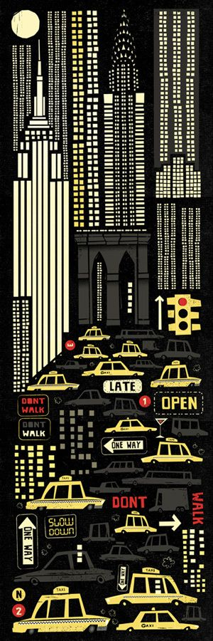New York by Peter Donnelly, via Behance