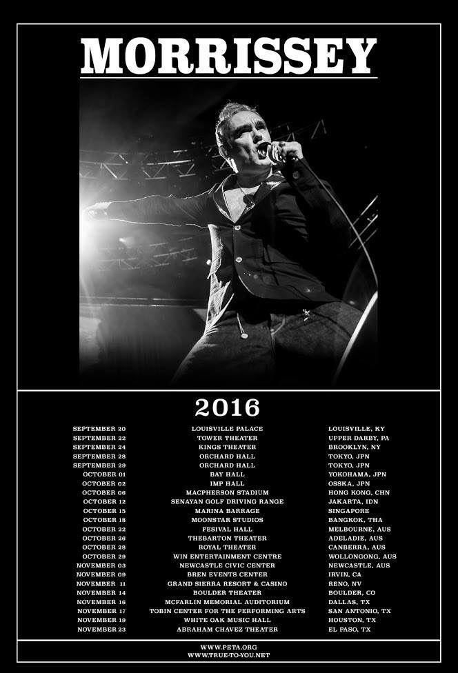 Morrissey tour 2016 after LAS