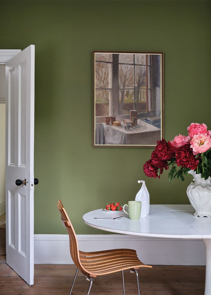 Two Real Estate Developers Share Their Top 8 Renovation Tips Green Walls Living Room Green Wall Color Trending Paint Colors