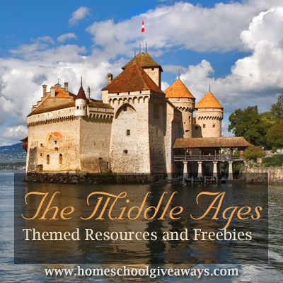 Free Middle Ages themed resources at Homeschool Giveaways.  You'll find free Middle Ages printables, lapbooks, unit studies, and more.