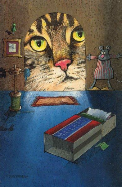 cat picture 930x1418 with  gary patterson solo miotic pupil black hair pink nose brown hair looking at viewer yellow eyes tall image drawing curious inscription beige hair tabby mouse