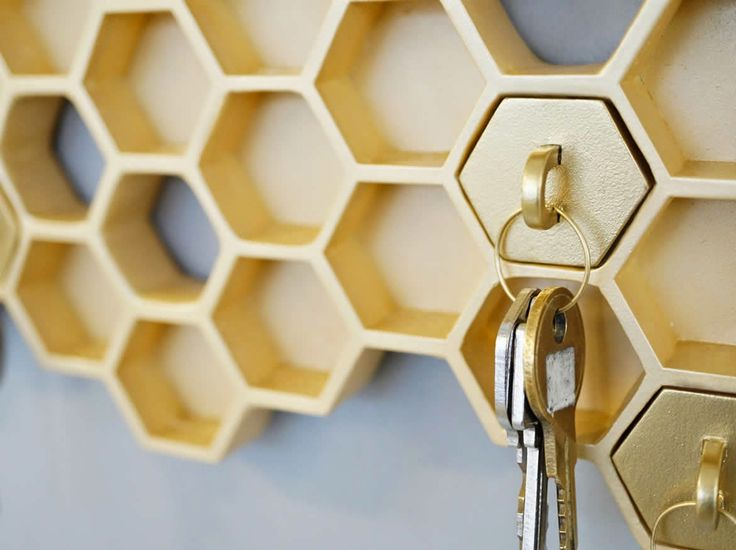Daily D3sign: Wieszak na klucze plaster miodu  Honey I'm home