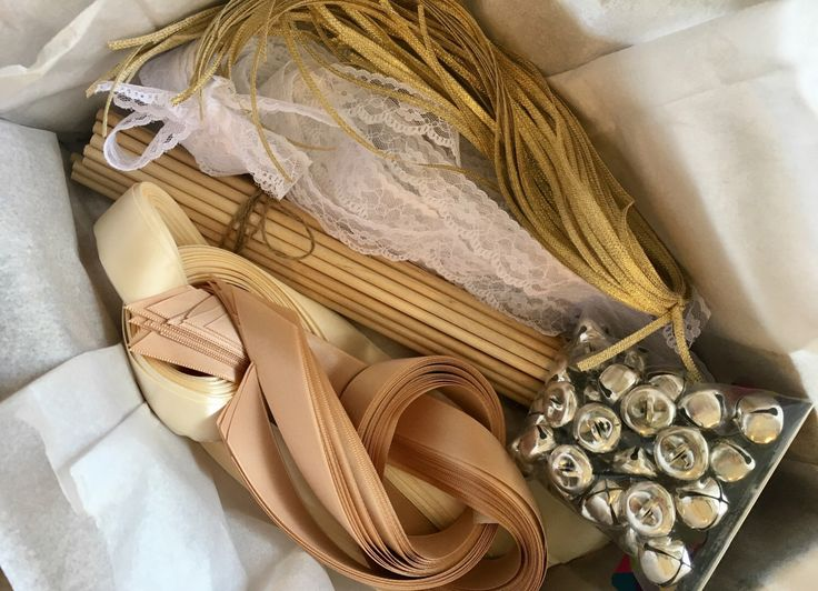 100 Wedding WandsDIY Wand Kit Send Off Bells Satin Ribbons Lace Rustic Shabby Chic Country