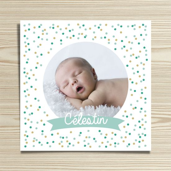 Tanni Lou - Faire-part naissance CÉLESTIN | Modèle personnalisable gratuitement (texte et couleur)