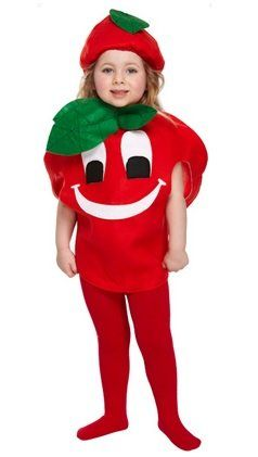 Girls Boys Kids Child's Red Tomato Fruit & Vegetable 5 A Day Fancy Dress Costume Outfit 3 years: Amazon.co.uk: Clothing