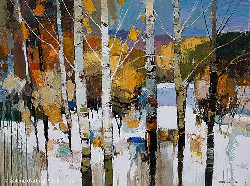 Iosif Derecichei, 'Winter Story', 36'' x 48''   Galerie d'art - Au P'tit Bonheur - Art Gallery