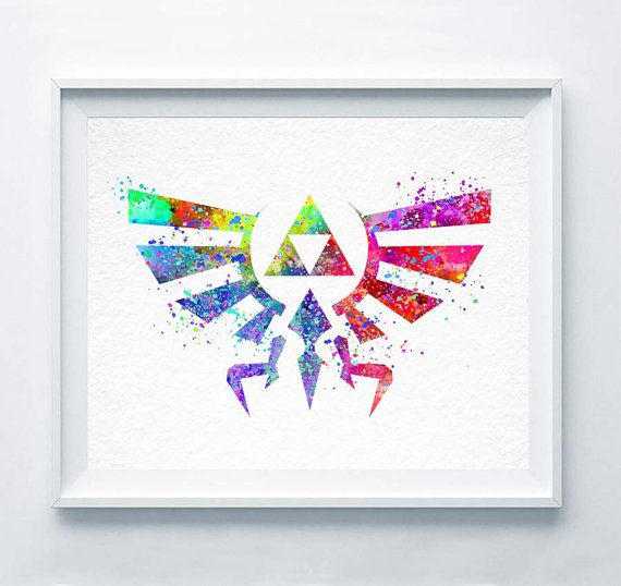 Legend of Zeldas Hylian Crest Art Print Printed on quality matte archival paper with archival inks. It is available in a variety of sizes to best fit