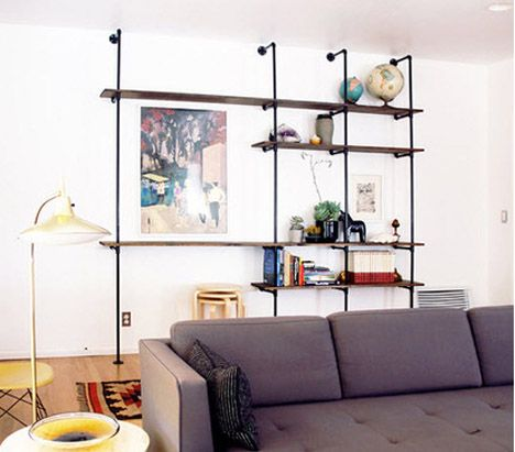 DIY MID-CENTURY WALL UNIT BY THE BRICK HOUSE - want this look for a bookshelf!!! ohhhh, Daddd ;-))
