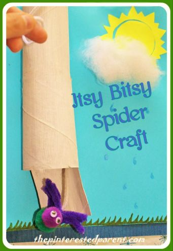 Itsy Bitsy Spider Went Up The Water Spout - pull the spider up  the spout