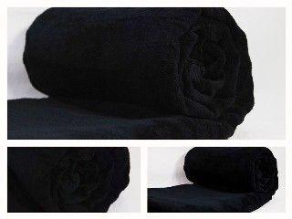 Koce z mikrowłókna w kolorze czarnym