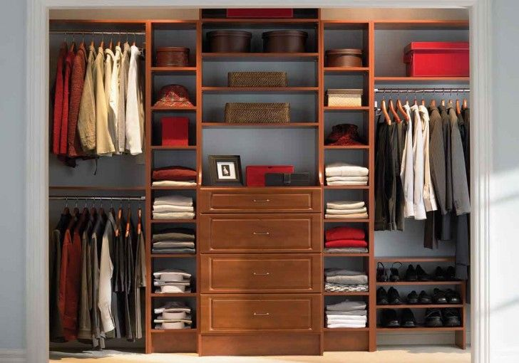 Home Design. Small Walk In Wardrobe Designs. Adorable Gentle Small Walk In Man Wardrobe Designs Featuring Wooden Wardrobe Cabinet Closet Organizer Set With Open Shelves And Drawers And Decorative Rectangular Brown Wicker Rattan And Round Paper Material Storage Box Plus Open Shoes Rack Along With Shirt As Well As Hat Plus Wonderful Jacket