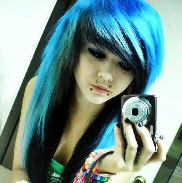 Black And Blue Love Her Fringe And Bangs Ashley