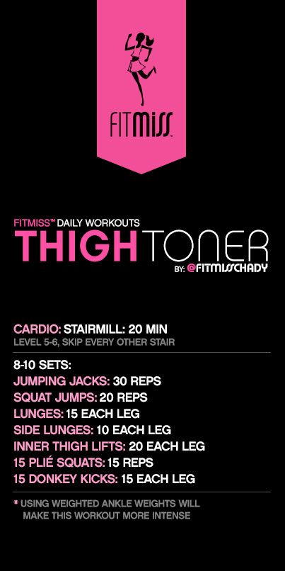 FitMiss Thigh Toner Workout