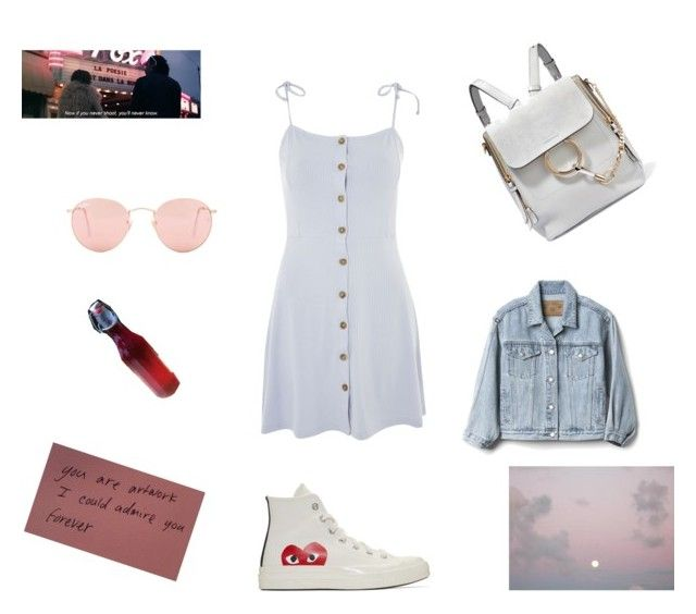 """""""Untitled #29"""" by sofiabaaima ❤ liked on Polyvore featuring Topshop, Gap, Play Comme des Garçons, Chloé and Ray-Ban"""