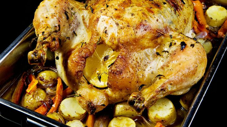 Langsomstekt kylling
