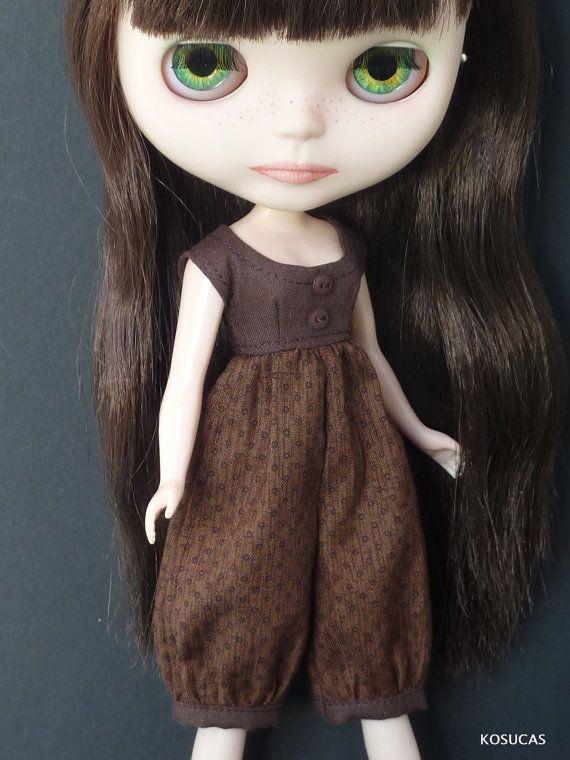 Jumpsuit for Neo Blythe dolls. por Kosucas en Etsy