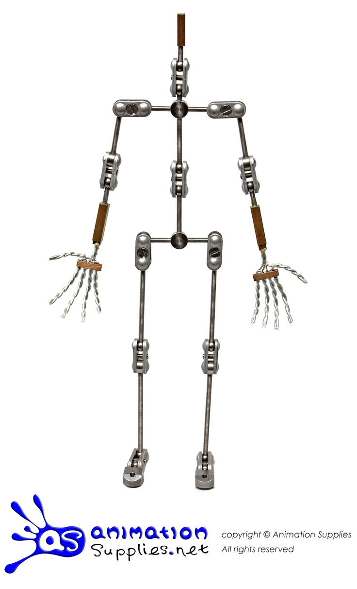 The Animation Supplies Professional Armature™ kit provides smaller joints than our Standard Armature. This allows for more elegant anatomically correct characters.     - Compact joints (30% smaller than Standard joints)   - A fully customisable design    - Fixed and toe joints for realistic human movement    - Replaceable wire hands    - Threaded tie-down system    This armature is sold as a kit (in parts) and requires assembly.