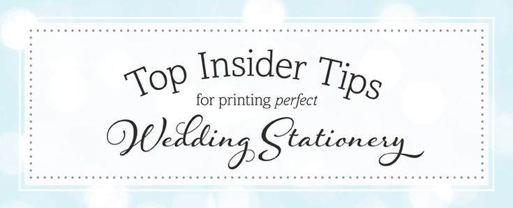 Wedding Stationery printing tips | Tips for your RSVP cards!