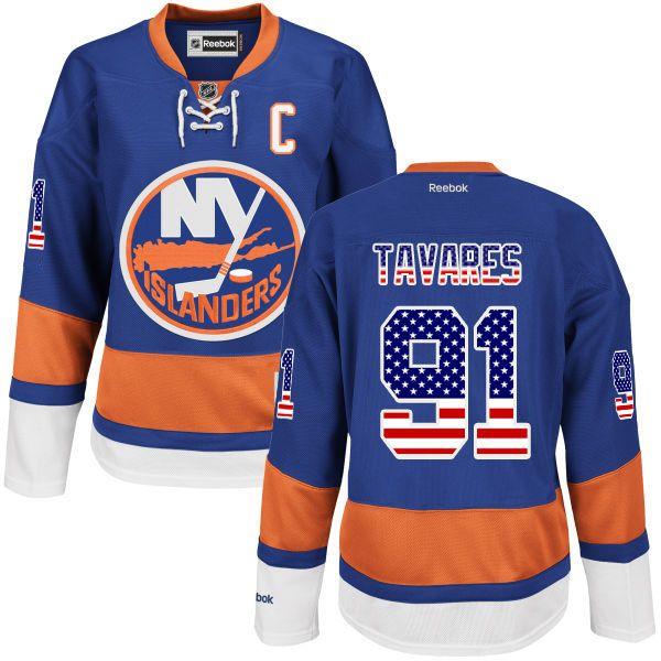 4d17d7ae0 ... islanders 91 john tavares blue american flag jersey ... 2014 Stadium  Series New York Islanders Hockey ...