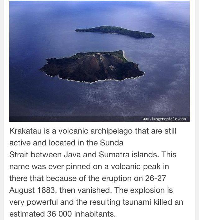 Mount Anak Krakatau-Sunda Strait Indonesia.