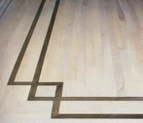 Photo of wood floor inlays