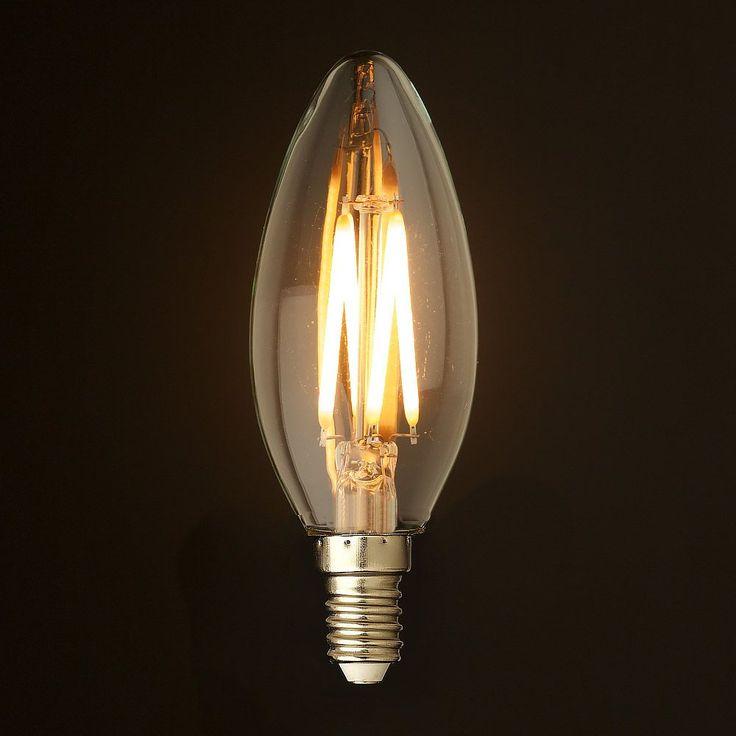 FILAMENT žiarovka - CANLDE - E14, Teplá biela, 2W, 280lm (2)
