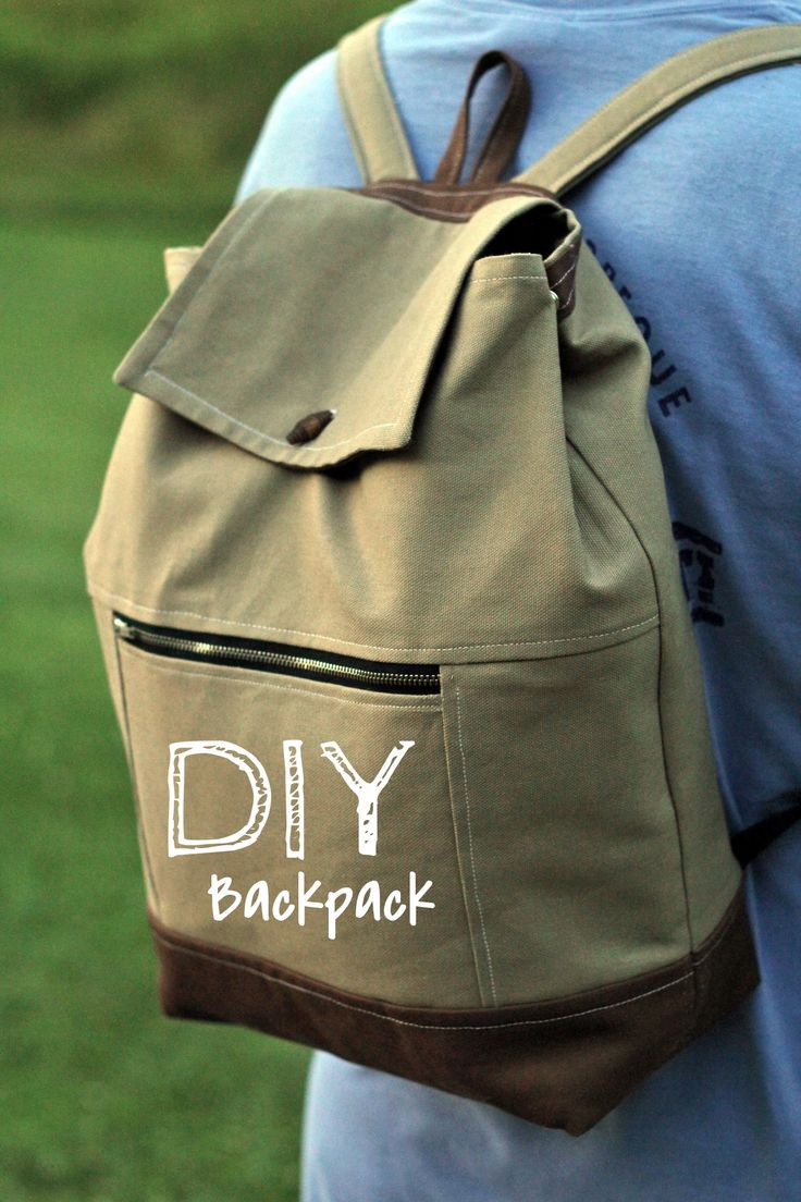 DIY Canvas Backpack by Gingercake | Khaki duck cloth from Jo-Ann Fabric and Craft Stores