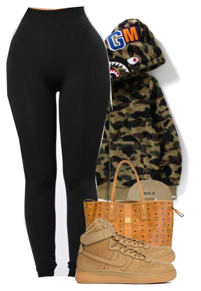 """""""Timeless"""" by alexanderbianca ❤ liked on Polyvore featuring MCM and Nike air force"""