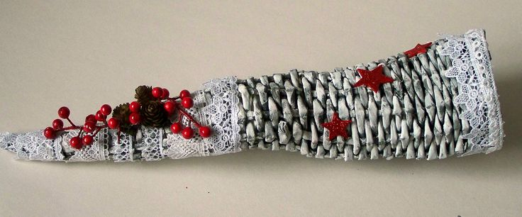 Rożek z wikliny papierowej