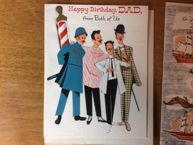 Lot of 7 Vintage 1950s Birthday Greeting Cards for Father Dad Daddy + Envelopes FOR SALE • $8.00 • See Photos! Money Back Guarantee. Up for auction is a lot of 7 vintage American Greetings birthday cards for the Father, Dad, or Daddy in your life. Excellent condition and includes original envelopes on all 142216499252