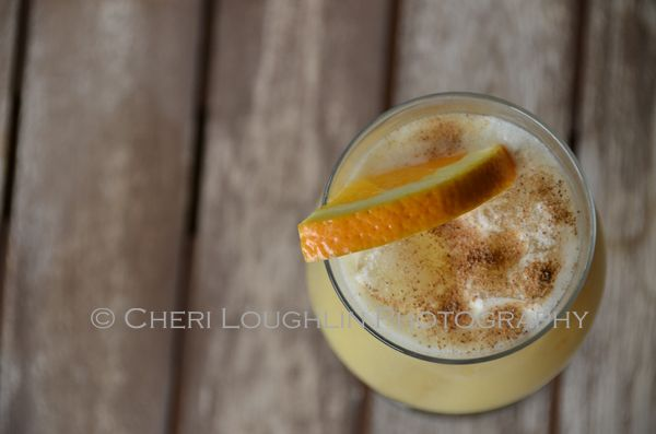 Pusser's Rum Painkiller Cocktail - Give the Painkiller a hearty shake for foamy head, generous