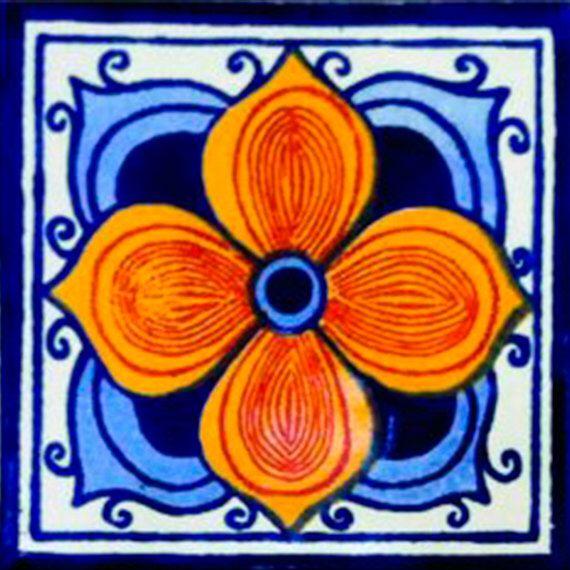 Mexican Tile Handmade Talavera TILE Mosaic Ceramic Tiles (53) - 90 PIECES by MiPueblitoTiles on Etsy https://www.etsy.com/listing/150609781/mexican-tile-handmade-talavera-tile