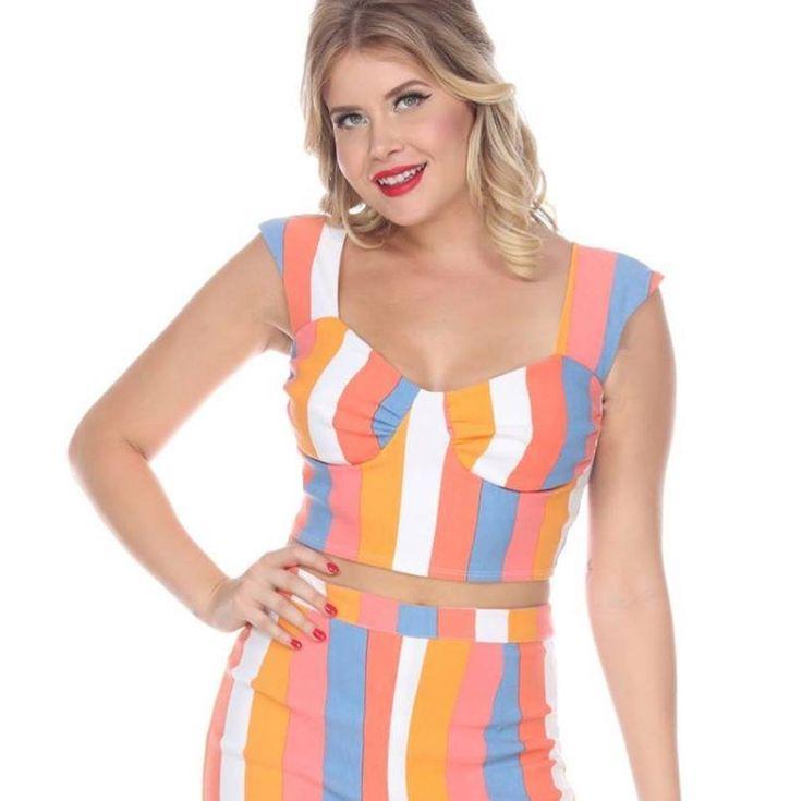 Bettie Page Groovy 70's Super Spy Laugh In Pencil Skirt Crop Top Set Dress XS-XL #BettiePage #VintageInspiredPineappleKitch #All