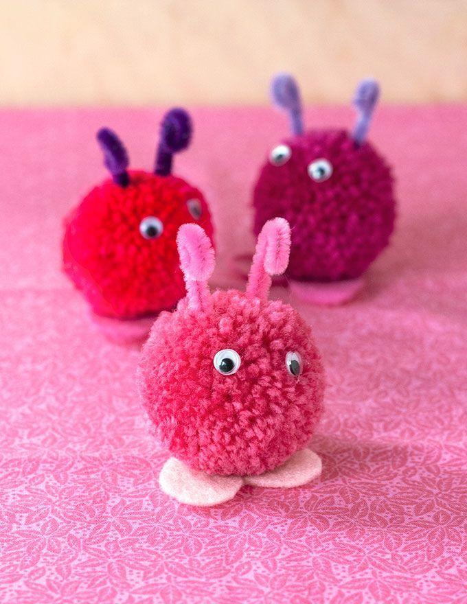 Wwweverminecom Valentines Handmade Evermine Pompom Love Bugs