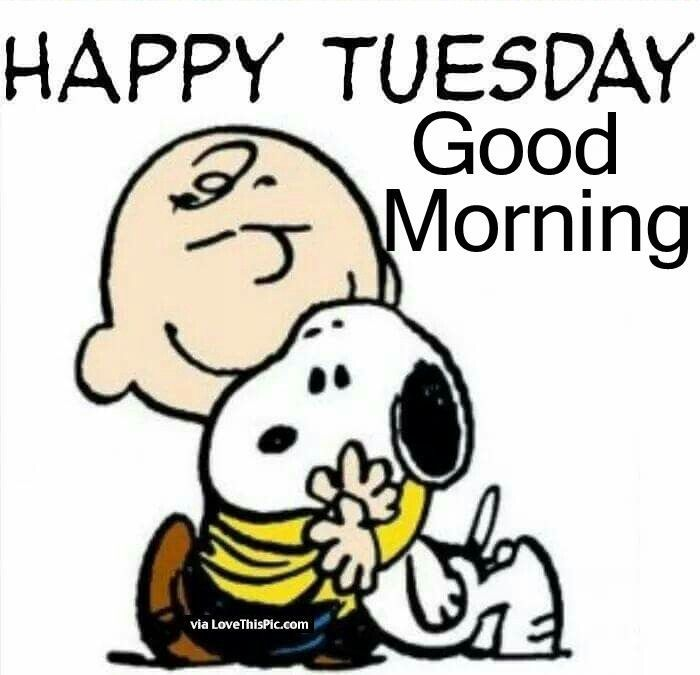 Happy #Tuesday / Good Morning - Snoopy & Charlie Brown