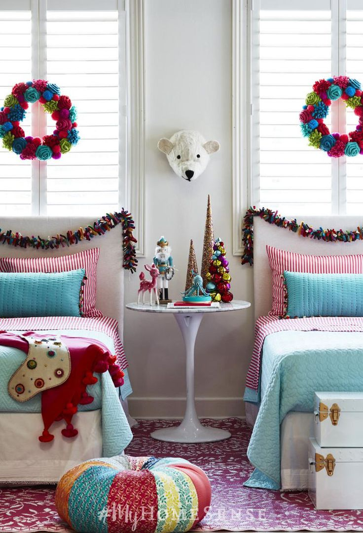 White and red bed sheets - This Christmas Kids Bedroom Is Sure To Spark Visions Of Sugar Plums This Holiday Season