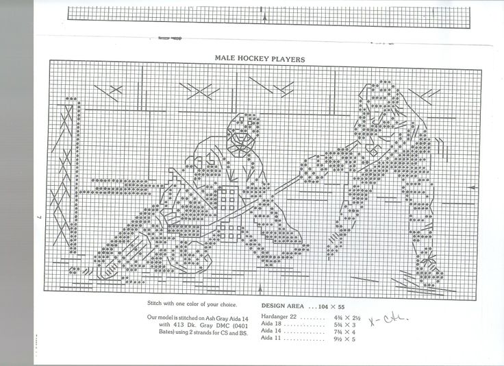 Hockey Knitting Patterns : 17 best Sports Cross Stitch Patterns images on Pinterest Counted cross stit...