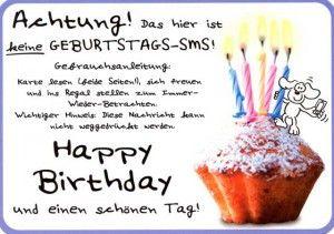 Lustige Postkarten Sprüche – Achtung! Das hier ist keine Geburtstags-SMS