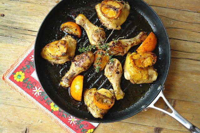 Perninhas de frango com laranja e vinagre balsâmico