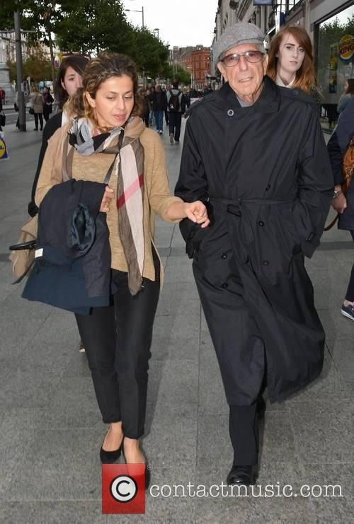 Leonard Cohen - Singer-songwriter Leonard Cohen seen leaving Madigans Bar on O'Connell Street with an unidentified woman. Cohen is due...