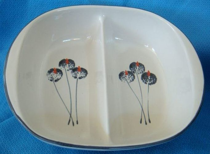 Wild Poppies Divided Serving Dish