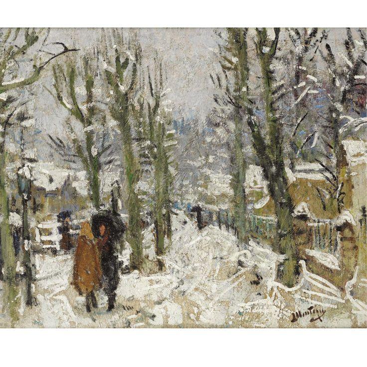 Pierre-Eugène Montézin (1874-1946), PAYSAGE DE NEIGE, Oil on canvas, 51x61cm