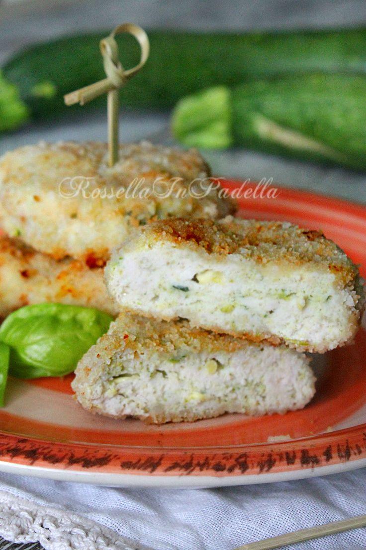 Crocchette di pollo e zucchine cotte al forno. Crocchette cotte al forno, buone da mangiare e leggere. ideali per tutta la famiglia.