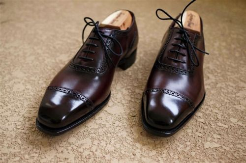 Alfred Sargent Cap Toe In Oxblood