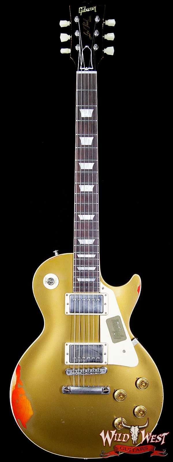 "2017 Gibson Custom Shop Les Paul Standard ""Painted Over"" Gold Top over Cherry Sunburst 8.1 Pounds"