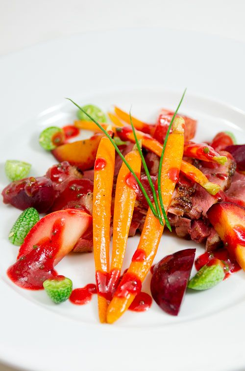 Crispy Duck With Plum And Elderflower Emulsion Recipes — Dishmaps