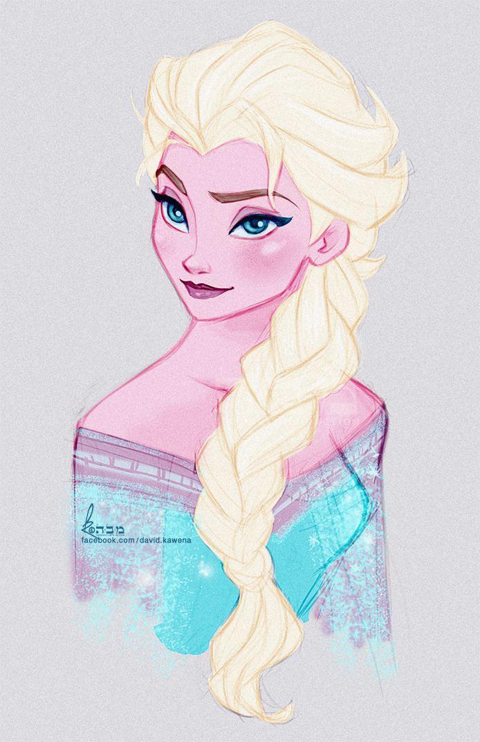 Disney's FROZEN - Queen Elsa Fast Colour Sketch by davidkawena on deviantART