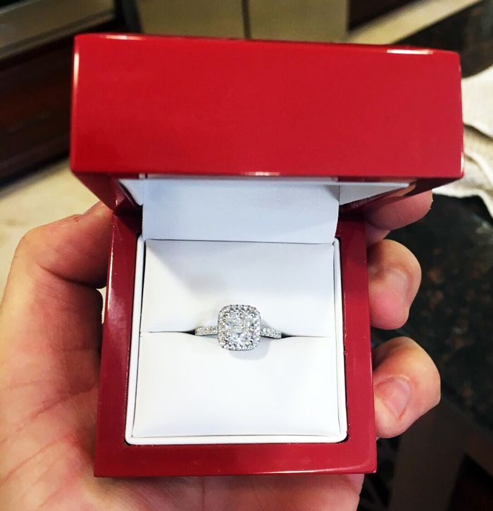 Cushion Halo Pave 34ctw Engagement Setting In 14k White Gold Price 2018 The Ring Box Pinterest Rings