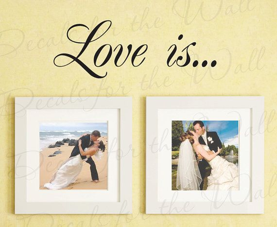 Love Is Family Marriage Wedding Bedroom by DecalsForTheWall, $22.97